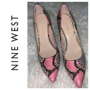 Nine West Pastel Snakeskin Heels. Size 8M